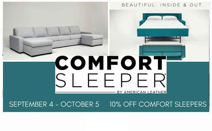 Save 10% on American Leather Comfort Sleeper