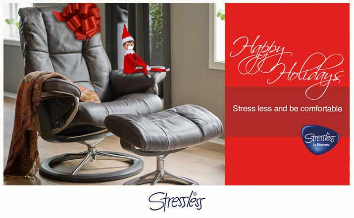 Happy Holidays Stressless Mayfair Recliner Sale
