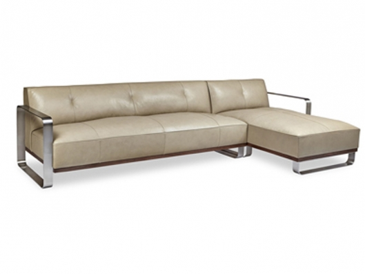 Davis Sectional Davis American Walnut American Leather Outlet Discount Furniture