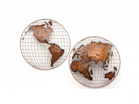 Hemispheres Copper 210606 WALL SCULPTURES Artisan House Outlet ...