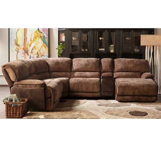 Leather Furniture Hickory North Carolina: Brown Leather Sectional Cheers RF Modern Outlet Discount