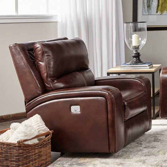 Brown Leather Recliner Cheers Rf Modern Outlet Discount