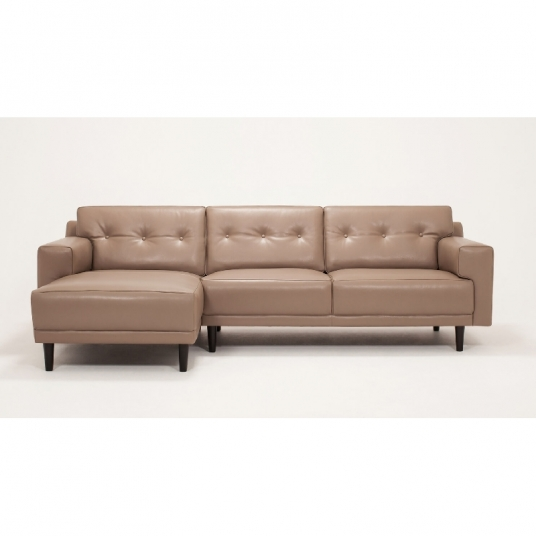 2 Piece Sectional Sofa With Leather Chaise Remi EQ3 Outlet