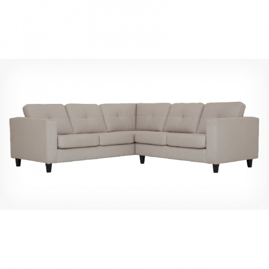 2 Piece Sectional Fabric Sofa Solo EQ3 Outlet Discount