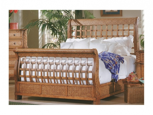 Progressive 1416 80 Palm Court Tropical Queen Sleigh Headboard