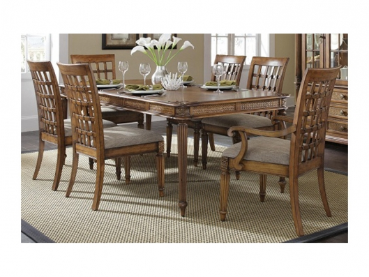 Dining Table P141-10 Palm Court Tropical Progressive Outlet ...