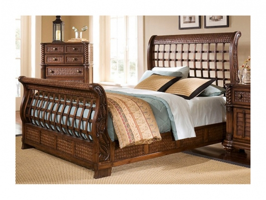 King Sleigh Headboard Palm Court Ii Tropical Progressive