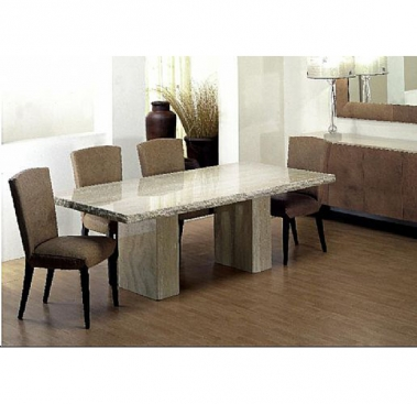 Stone International 5073 S Collection Dining Table With Double Pedestal