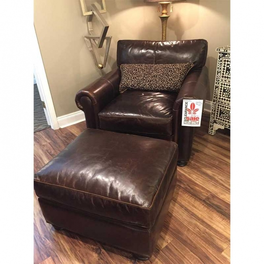 Anna Belle Leather Chair And Ottoman Eleanor Rigby Home