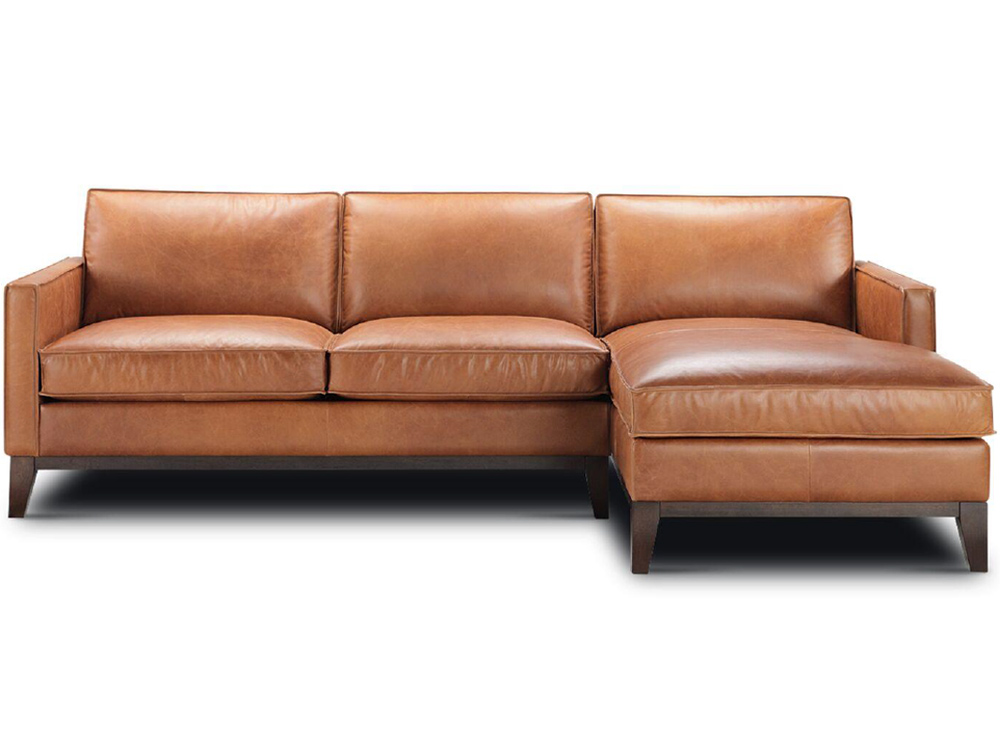 audrey leather sectional