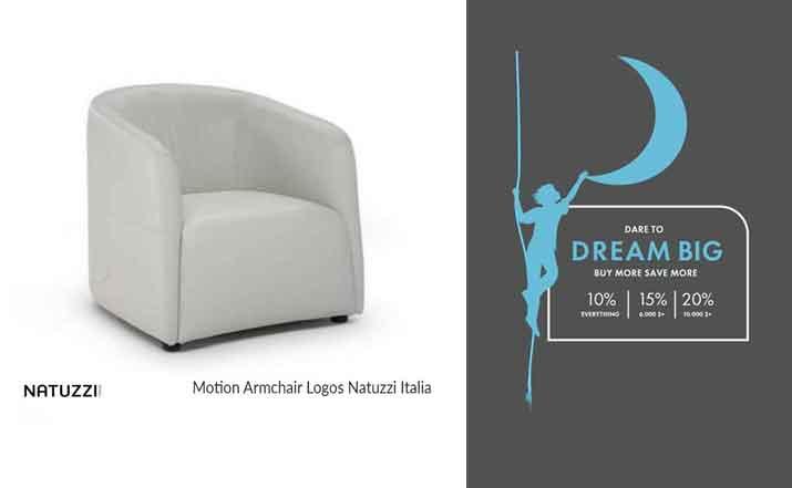 Logos Armchair Natuzzi Italia