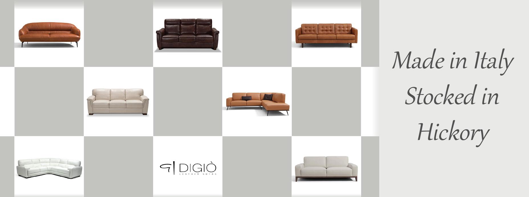 Digio Leather Sofas