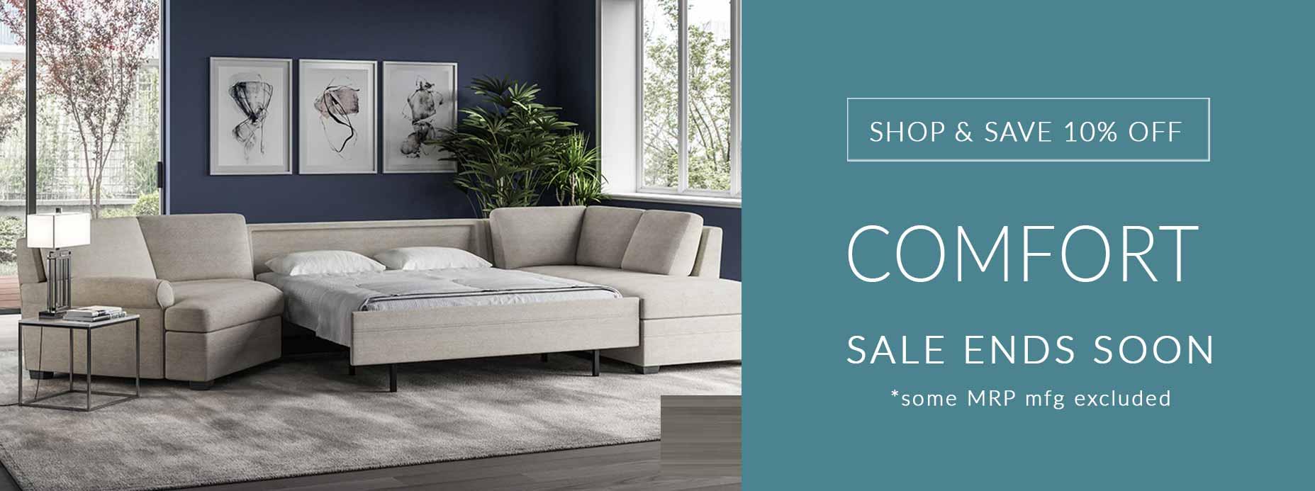 American Leather Comfort Sleeper Sofa