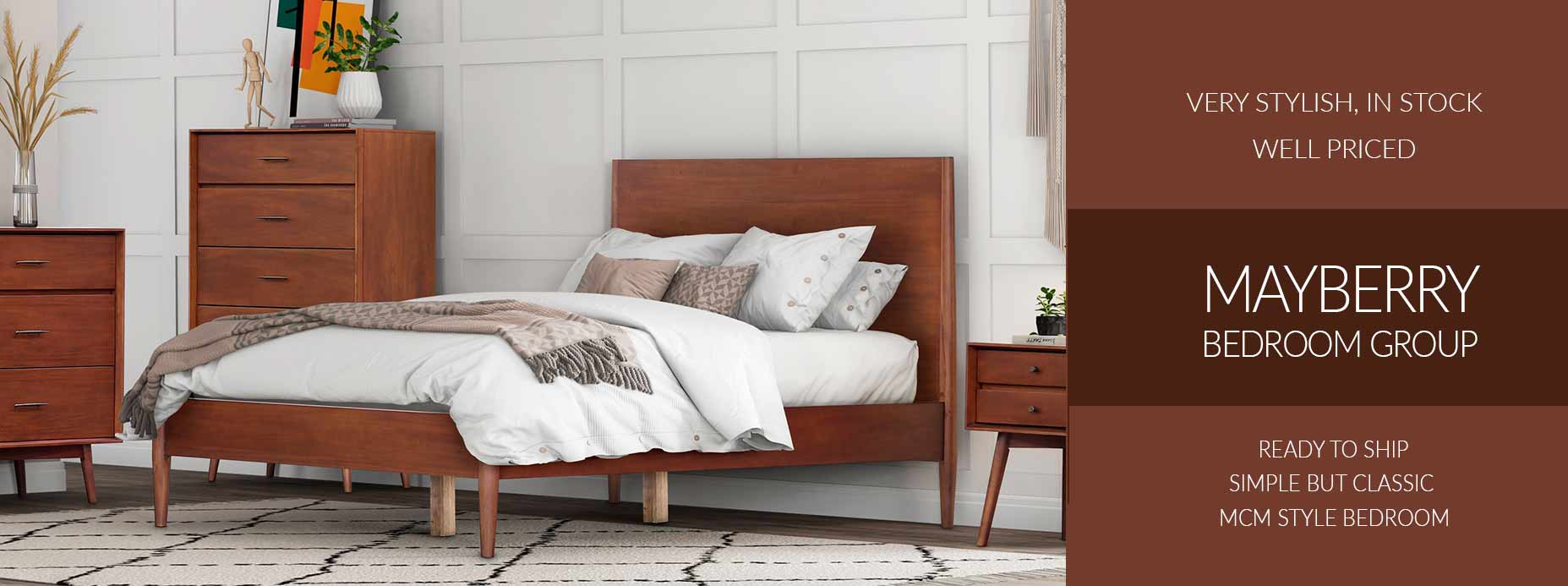 Mid Century Modern Style Mayberry Bedrooms
