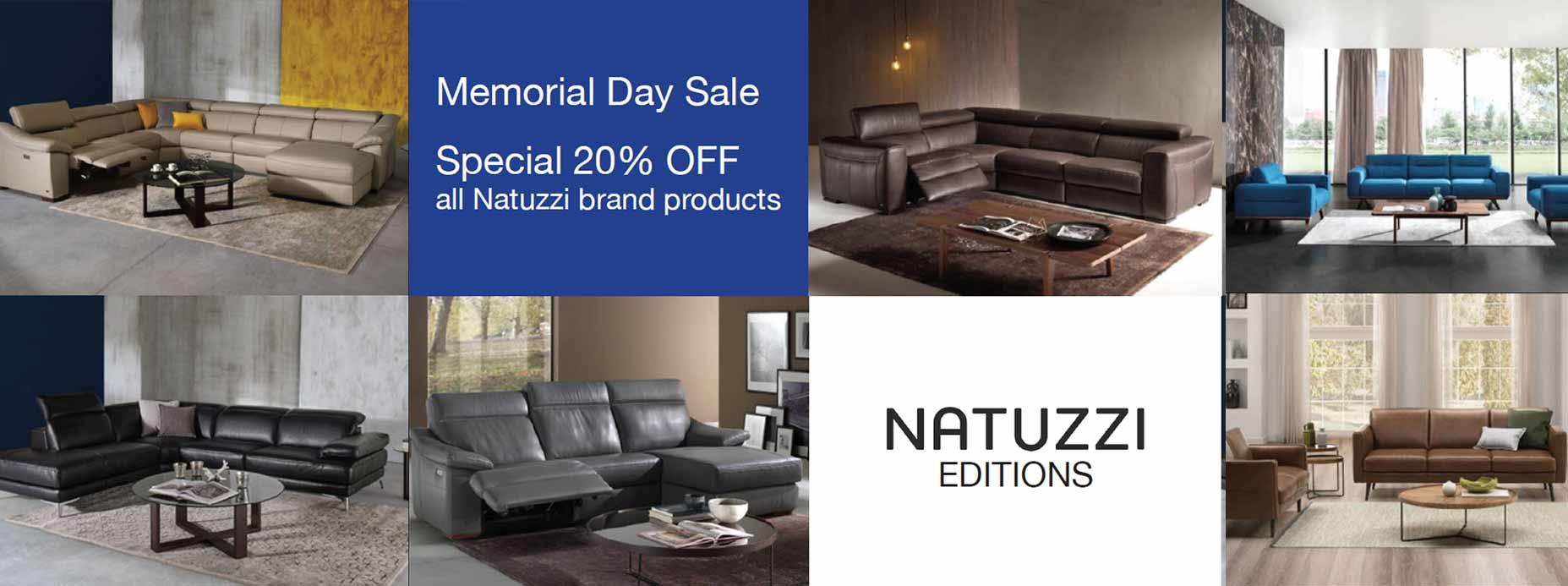 Natuzzi Editions Memorial Day Sale