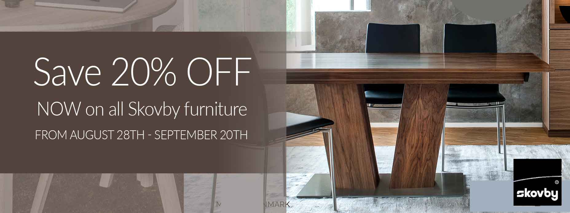 Save 20% off on Skovby Furniture