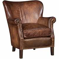 Paolini Leather Wing Chairs