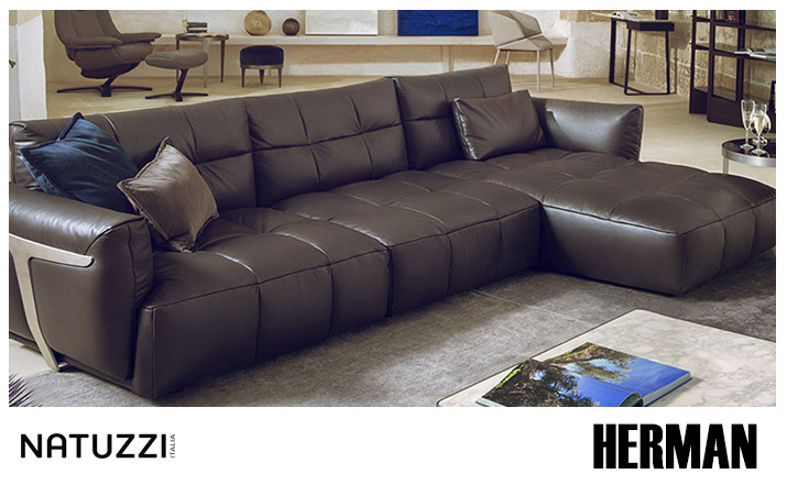 Natuzzi La Scala Leather Sofa