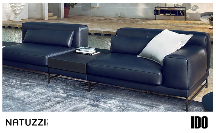 Natuzzi Ido Leather Sofa