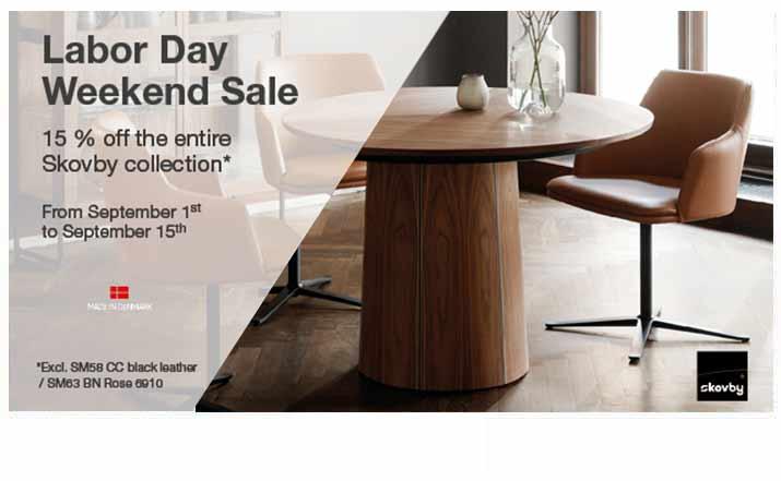 Skovby Labor Day Weekend Sale 15% OFF*