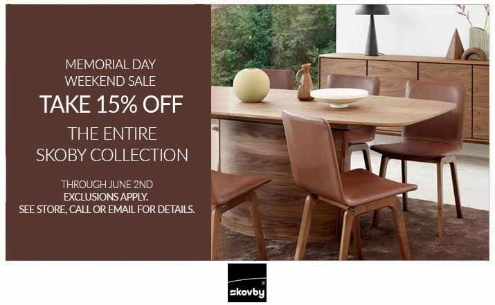 Skovby Memorial Day Weekend Sale 15% OFF*
